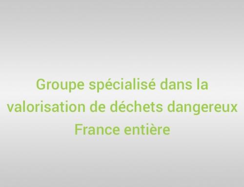 Groupe spécialisé dans la valorisation de déchets dangereux